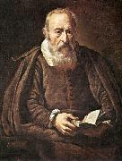BASSETTI, Marcantonio Portrait of an Old Man with Book g oil