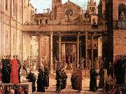 BASTIANI, Lazzaro The Relic of the Holy Cross is offered to the Scuola di S. Giovanni Evangelista oil