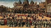 BELLINI, Gentile Procession in Piazza S. Marco oil painting artist