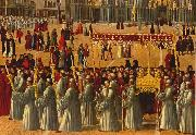 BELLINI, Gentile Procession in Piazza S. Marco (detail) ll95 oil painting artist