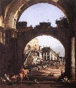 BELLOTTO, Bernardo Capriccio of the Capitol oil painting picture wholesale