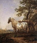 BERCHEM, Nicolaes Landscape with Two Horses oil