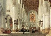 BERCKHEYDE, Job Adriaensz Interior of the St Bavo Church at Haarlem fs oil