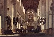 BERCKHEYDE, Job Adriaensz Interior of the St Bavo in Haarlem oil