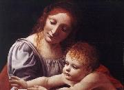 BOLTRAFFIO, Giovanni Antonio The Virgin and Child (detail) dfg oil painting picture wholesale