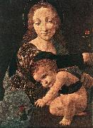 BOLTRAFFIO, Giovanni Antonio Virgin and Child with a Flower Vase (detail) oil painting picture wholesale