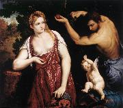 BORDONE, Paris Venus and Mars with Cupid oil painting picture wholesale