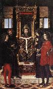 BORGOGNONE, Ambrogio St Ambrose with Saints fdghf oil painting picture wholesale