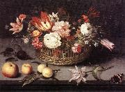 BOSSCHAERT, Johannes Basket of Flowers gh oil painting picture wholesale