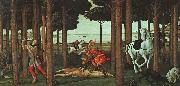 BOTTICELLI, Sandro The Story of Nastagio degli Onesti (second episode) gfhgf oil painting picture wholesale