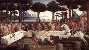 BOTTICELLI, Sandro The Story of Nastagio degli Onesti (third episode) fdgfd oil painting picture wholesale