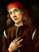 BOTTICELLI, Sandro Portrait of a Young Man  fdgdf Sweden oil painting reproduction