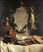 BRAY, Joseph de Still-life in Praise of the Pickled Herring df oil