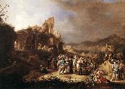 BREENBERGH, Bartholomeus The Preaching of St John the Baptist oil