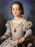 BRONZINO, Agnolo Bia, The Illegitimate Daughter of Cosimo I de  Medici oil