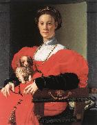 BRONZINO, Agnolo Portrait of a Lady with a Puppy f oil painting picture wholesale