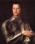 BRONZINO, Agnolo Cosimo I de  Medici in Armour oil