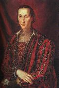 BRONZINO, Agnolo Portrait of Eleanora di Toledo oil