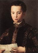 BRONZINO, Agnolo Portrait of Francesco I de Medici oil