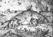 BRUEGEL, Pieter the Elder Big Fishes Eat Little Fishes g oil painting picture wholesale