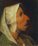 BRUEGEL, Pieter the Elder Portrait of an Old Woman  gfhgf oil painting picture wholesale