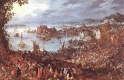 BRUEGHEL, Jan the Elder Great Fish-Market oil painting artist