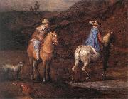 BRUEGHEL, Jan the Elder Travellers on the Way (detail) fd oil painting picture wholesale