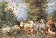 BRUEGHEL, Jan the Elder The Animals Entering the Ark  fggf oil painting artist