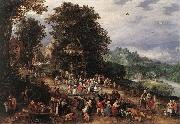 BRUEGHEL, Jan the Elder A Flemsh Fair ds oil painting artist