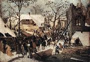 BRUEGHEL, Pieter the Younger Adoration of the Magi df oil painting artist