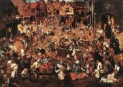 BRUEGHEL, Pieter the Younger Battle of Carnival and Lent f oil painting artist
