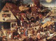 BRUEGHEL, Pieter the Younger Proverbs fd oil painting artist