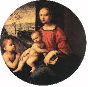 BUGIARDINI, Giuliano Virgin and Child with the Infant St John the Baptist oil painting picture wholesale