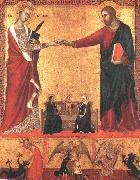 Barna da Siena The Mystical Marriage of Saint Catherine sds oil