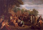 Benjamin West William Penn s Treaty with the Indians oil painting picture wholesale