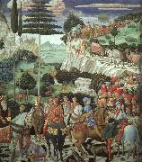 Benozzo Gozzoli Procession of the Magus Melchoir oil painting artist