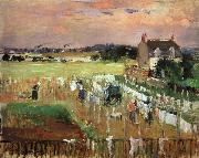 Berthe Morisot Hanging Out the Laundry to Dry oil painting artist