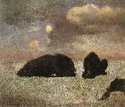 Bierstadt, Albert Grizzly Bears oil