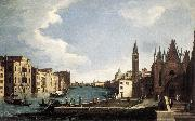 CANAL, Bernardo The Grand Canal with the Church of La Carita ff oil