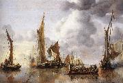 CAPELLE, Jan van de The State Barge Saluted by the Home Fleet df oil painting artist