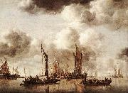 CAPELLE, Jan van de Dutch Yacht Firing a Salvo fg oil painting artist