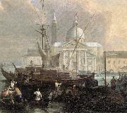 CARLEVARIS, Luca The Sea Custom House with San Giorgio Maggiore (detail) fg oil