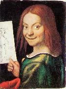 CAROTO, Giovanni Francesco Read-headed Youth Holding a Drawing oil painting picture wholesale