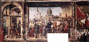 CARPACCIO, Vittore Arrival of the English Ambassadors g oil painting artist