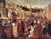 CARPACCIO, Vittore The Sermon of St Stephen dftg oil painting picture wholesale