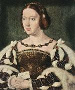 CLEVE, Joos van Portrait of Eleonora, Queen of France  fdg oil