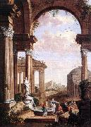 COCK, Paul de Landscape with Roman Ruins oil