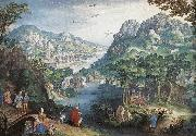CONINXLOO, Gillis van Mountain Landscape with River Valley and the Prophet Hosea dsg oil painting picture wholesale