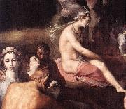 CORNELIS VAN HAARLEM The Wedding of Peleus and Thetis (detail) fdg oil