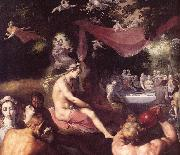 CORNELIS VAN HAARLEM The Wedding of Peleus and Thetis (detail) dfg oil